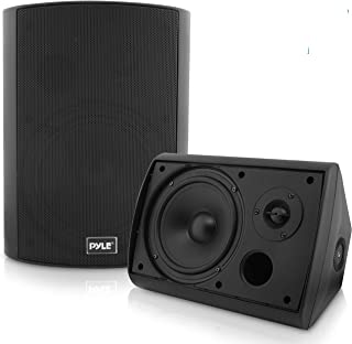 Pyle Pair of Wall Mount Waterproof & Bluetooth 6.5'' Indoor/Outdoor Speaker System, with Loud Volume and Bass. (Pair, Blac...