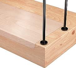 10 x 80cm Queta Antirutschstreifen Treppe Set Rutschfest Stufenmatten Transparent Rutsch Streifen Treppenstufen Matten Rutschschutz 15 Rollen Transparente Antirutschstreifen mit Installationsrolle