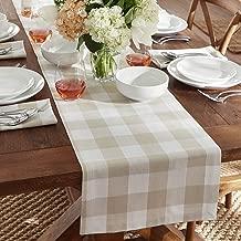 Elrene Home Fashions Farmhouse Living Buffalo Check Table Runner, 13