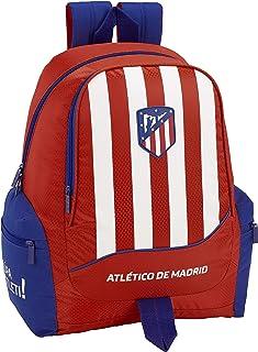 Atlético de Madrid Mochila Grande Adaptable a Carro, niño Equipaje para niños, Roja, 43 cm