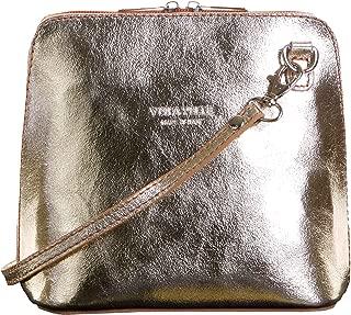 Genuine Italian Leather, Small Shoulder Bag Handbag. Includes Branded a Protective Storage Bag.