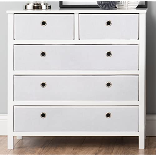 Ez Home Solutions Ffr104wh01 Foldable Furniture Split Drawer Dresser  X 19