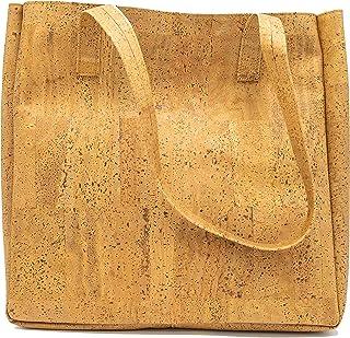 CAPTAIN CORK Odette Korken Tragetasche Gold - Vegan Leder Shopper - Korken Tasche - Vegane Tasche - Handtasche Korken - Ve...