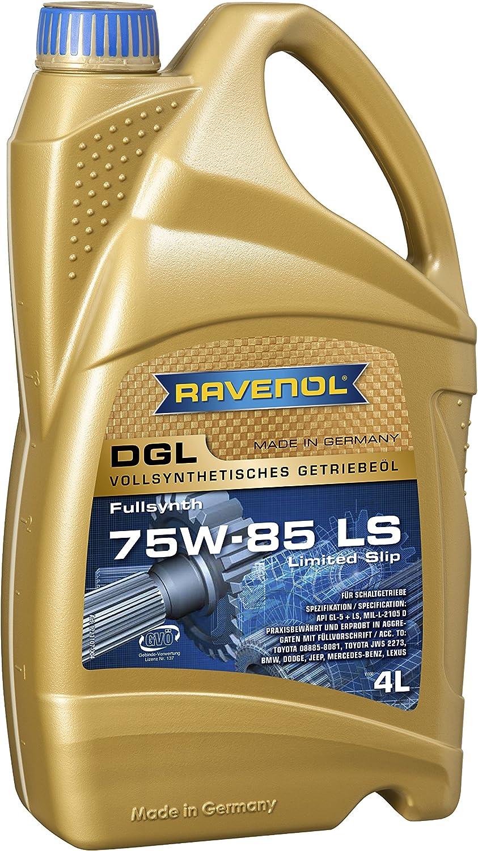 Ravenol Dgl Sae 75w 85 75w85 Gl5 Ls Vollsynthetisches Getriebeöl 4 Liter Auto