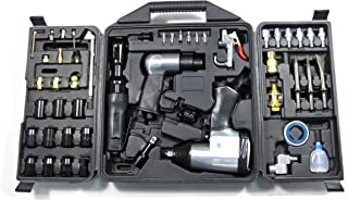 Dynamic Power 50 Piece Air Tool Kit. 1-1/2'' Impact Wrench, 1-3/8'' Ratchet Wrench, 5-Air Hammer w/Chisels, and mnay other great tools. D-W3-50K