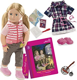 Our Generation BD31026ATZ Deluxe Shannon RV Doll with Book