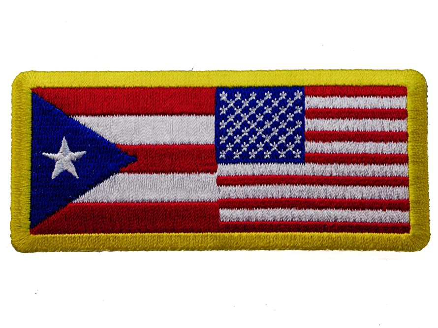 Puerto Rico & USA United States Flag Patch IVAN1265