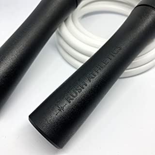 RUSH ATHLETICS Legacy Weighted Jump Rope - Best for Weight Loss Fitness Training - Strength Power - Adjustable 10ft Heavy Jump Rope