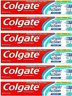 Colgate Anticavity, Original Mint, Triple Action Gel Toothpaste, 6 Pack - 2.5 Oz Ea (Total 15 Oz)