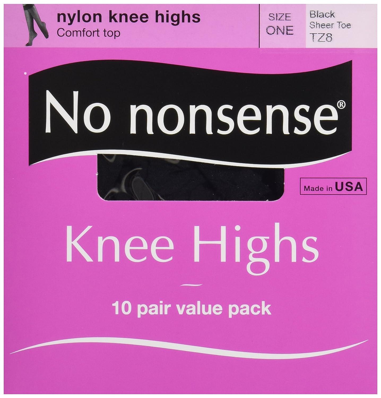 No Nonsense Knee Highs, Black, 10 ct