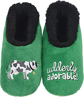 Snoozies Pairables Womens Slippers - House Slippers - Udderly Adorable