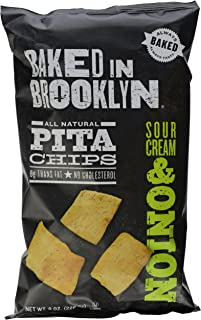 Baked in Brooklyn Pita Chips Sour Cream & Onion, 8 Oz/226.8 g