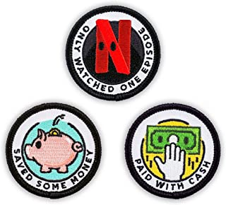 Winks For Days Adulting Merit Badge Embroidered Iron-On Patches (Achievements - Set 1)
