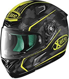 X-Lite X-802RR Ultra Carbon Helmet - Marquetry (MEDIUM) (CARBON/YELLOW)