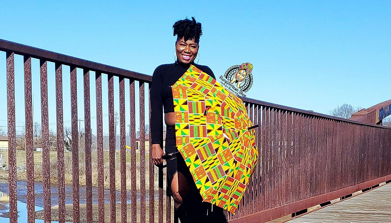 Sales results No. 1 Kepula African Boston Mall Umbrella Fabric