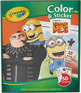 Crayola Despicable Me 3 Colour and Sticker Book (Cover May Vary)