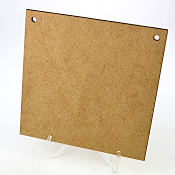 13 x Wooden Mdf Square Plaques 4mm thick 16cm square with 2 Holes