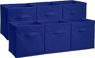 Amazonベーシック 収納ボックス 収納キューブケース 折りたたみ式 6点セット ネイビー