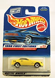 Hot Wheels - 1998 First Editions - Mercedes SLK - Yellow - #11 of 40 Cars - Die Cast - Collector #646 - Limited Edition - Collectible 1:64 Scale