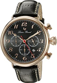 Lucien Piccard Men's LP-72415-RG-01 Trieste Analog Display Quartz Black Watch