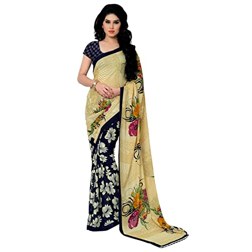 5dbb264bfb Anand Sarees Georgette Saree with Blouse Piece (2942_Multicoloured_Free  size)