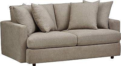 "Amazon Brand – Rivet Amelia Modern 74"" Sofa, Fabric, Light Gray"
