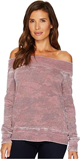 Allen Allen - Camo Long Sleeve Off the Shoulder