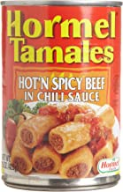Hormel Tamales Hot Spicy Beef, 15-Ounce (Pack of 12)
