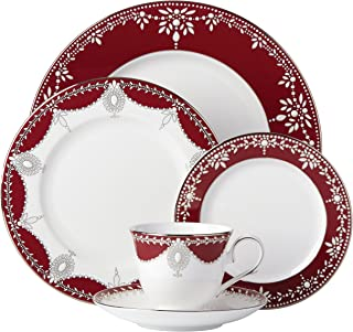 Lenox Marchesa Empire Pearl 5 Piece Place Setting Dinnerware Set, Wine
