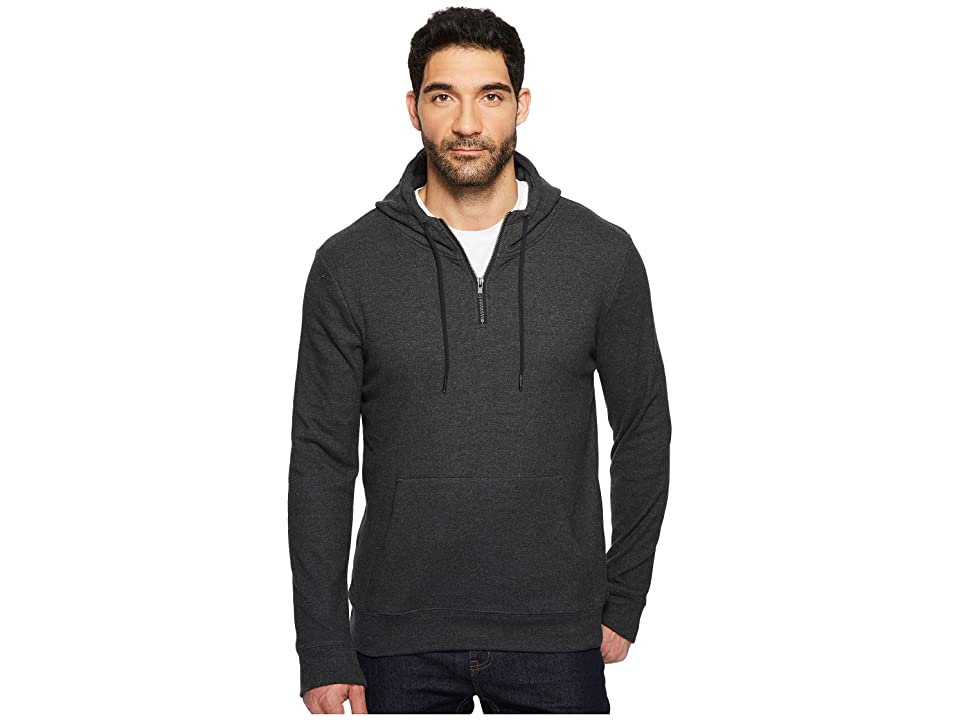 Threads 4 Thought Breton 3/4 Zip Hoodie (Heather Charcoal) Men