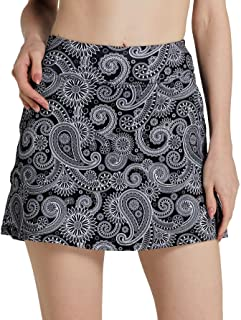 Cityoung Women's Golf Pleated Flat Skort Pockets
