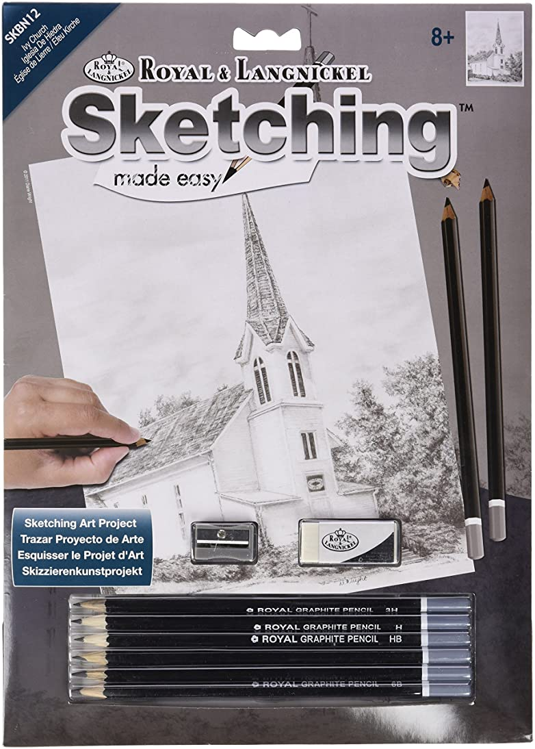 ROYAL BRUSH Sketching Made Easy Kit, 9 by 12-Inch, Ivy Church