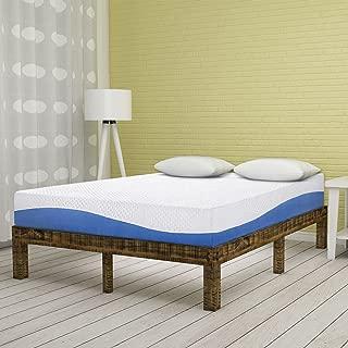 Olee Sleep 10 Inch Gel Infused Layer Top Memory Foam Mattress Blue, King