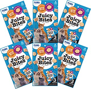 INABA Juicy Bites Scallop and Crab Flavor 6 Packs, 33.9 Grams (USA703A)