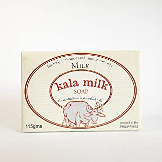 Kala Milk Handmade Milk Soap Made from Fresh Carabao Milk - Product of the Philippines - 4 oz./115 gms Pure Milk Scent