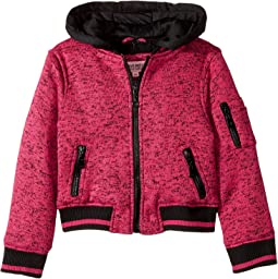 Melange Fleece Bomber with Woobie Lining (Little Kids/Big Kids)