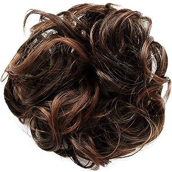 PRETTYSHOP parrucchino Voluminoso Pezzo capelli capelli di gomma scrunchie ricci Updo Bun marrone mescolare # 2T30B G9E