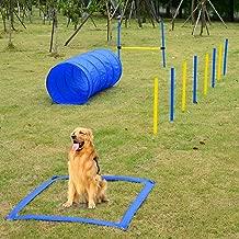 Festnight Outdoor Dog Obstacle Agility Training Exercise Equipment Kit