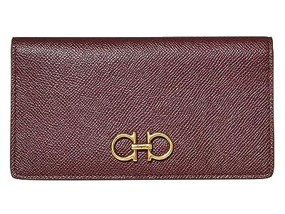Salvatore Ferragamo Gancini Card Case (Wine) Handbags