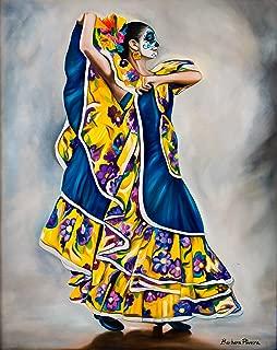 Blue & Yellow Dancer Original Barbara Rivera Artwork Print