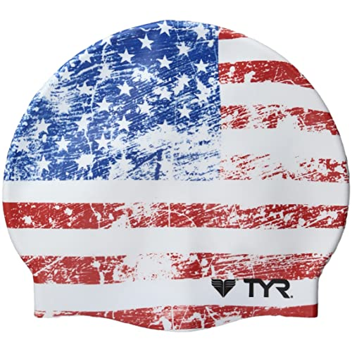 02c083fc64 TYR Old Glory Flag Swimming Cap