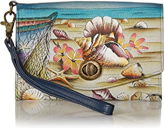 Hand Painted Leather Women's Organizer / Clutch / Wristlet