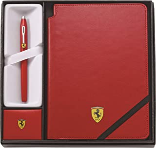 Cross Century II Blue Lacquer Fountain Pen with Rhodium Plated Appointments and Fine Nib Gift Set Ferrari - Rosso Corsa Red