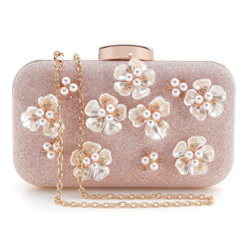 4d98715f7d0 PARADOX (LABEL) Womens Glitter Floral Rhinestone Beaded Evening Bags  Wedding Clutch Purse