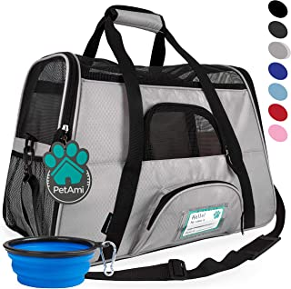 PetAmi Premium Airline Approved Soft-Sided Pet Travel Carrier | Ideal for Small - Medium Sized Cats, Dogs, and Pets | Ventilated, Comfortable Design with Safety Features