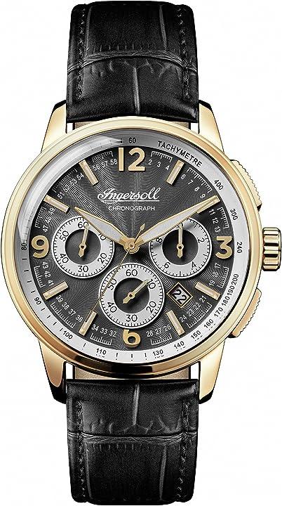 Ingersoll orologio cronografo quarzo uomo con cinturino in pelle i00102