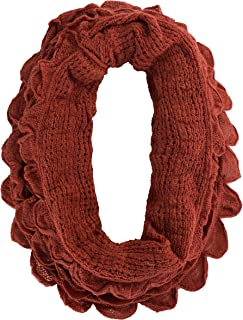 Chic Oversized Ruffle Knitted Infinity Scarf