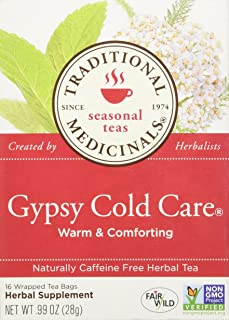 Traditional Medicinals Gypsy Cold Care Herbal Tea - 16 Tea Bags
