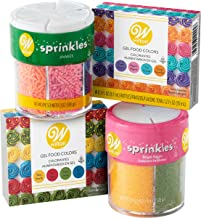 Wilton Gel Food Coloring and Sprinkles Decorating Kit, 10-Piece - Gel Food Colors, Sprinkles,  and Bright Sugars