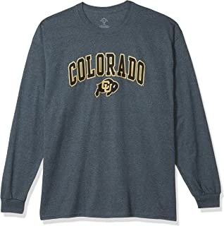 Elite Fan Shop Colorado Buffaloes Men's Dark Heather Arch Long Sleeve Tee, Large